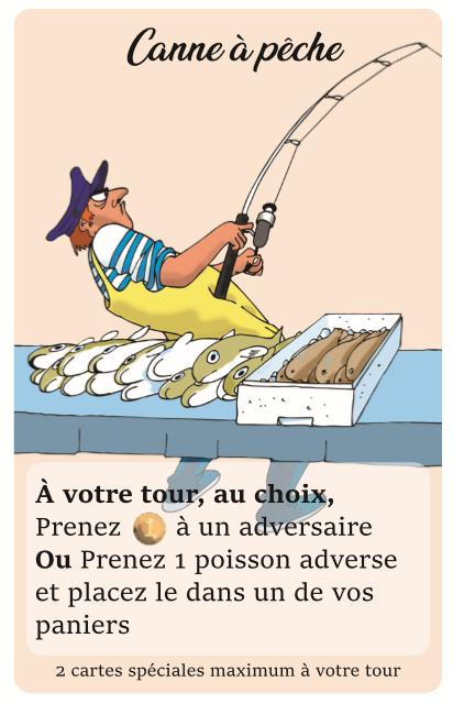 Carte spéciale canne à pêche le poissonnier