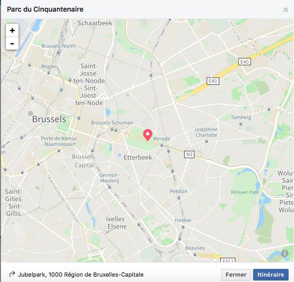 Lieu Brussels Games Festival - Parc du Cinquantenaire