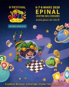 Le Poissonnier sera présent ce 7 et 8 mars 2020 au Festival Jeu et Cie à Epinal !